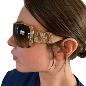Used Christian Dior Beigh Indinight Sunglasses